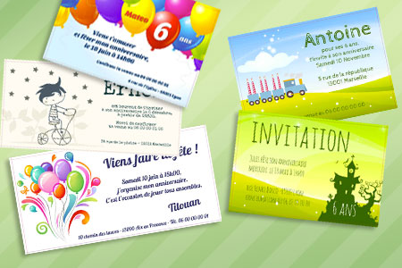 Carte d'invitation anniversaire a creer