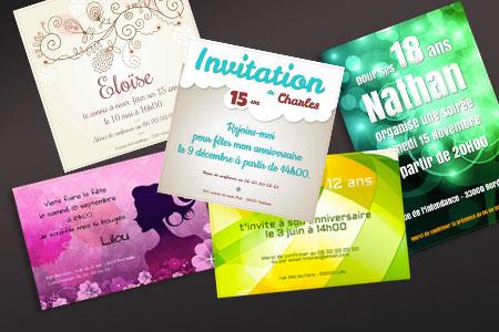 Créer sa carte d'invitation anniversaire gratuit