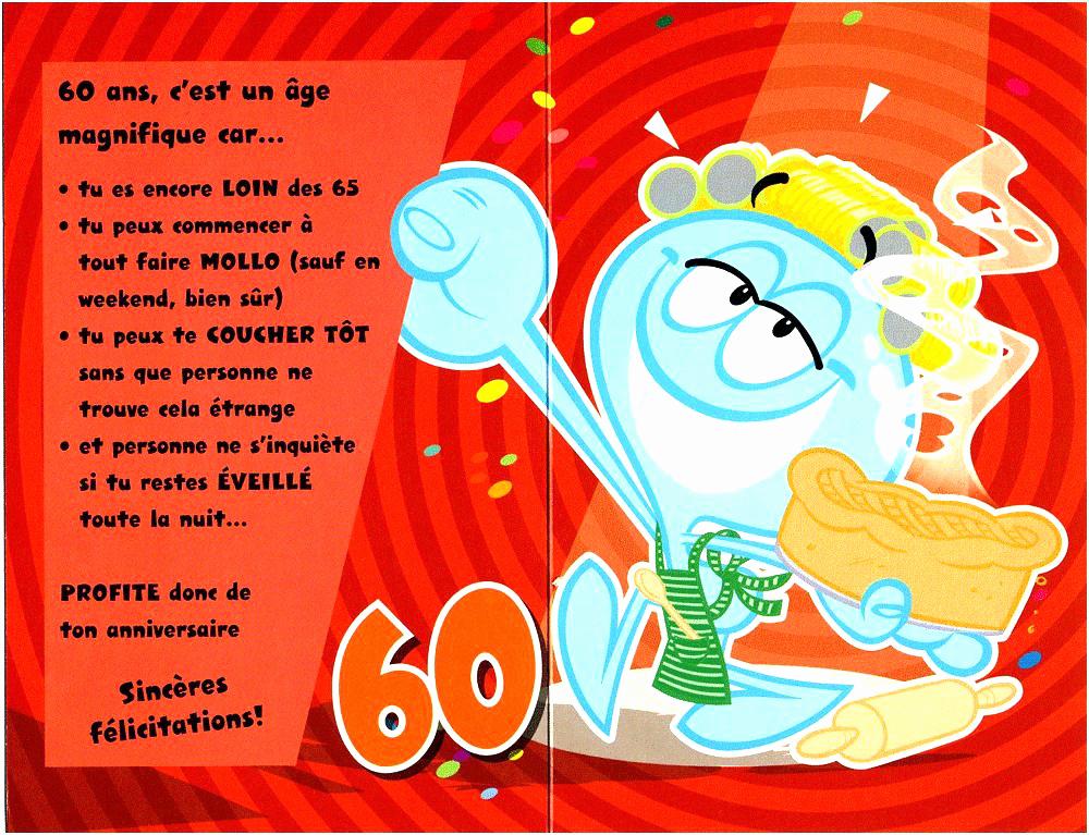 Quoi ecrire sur une carte anniversaire 60 ans