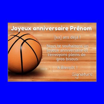 Carte anniversaire basket