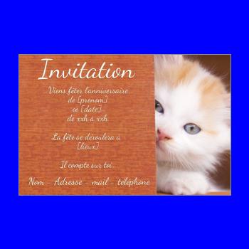 Carte invitation anniversaire à imprimer gratuite animaux