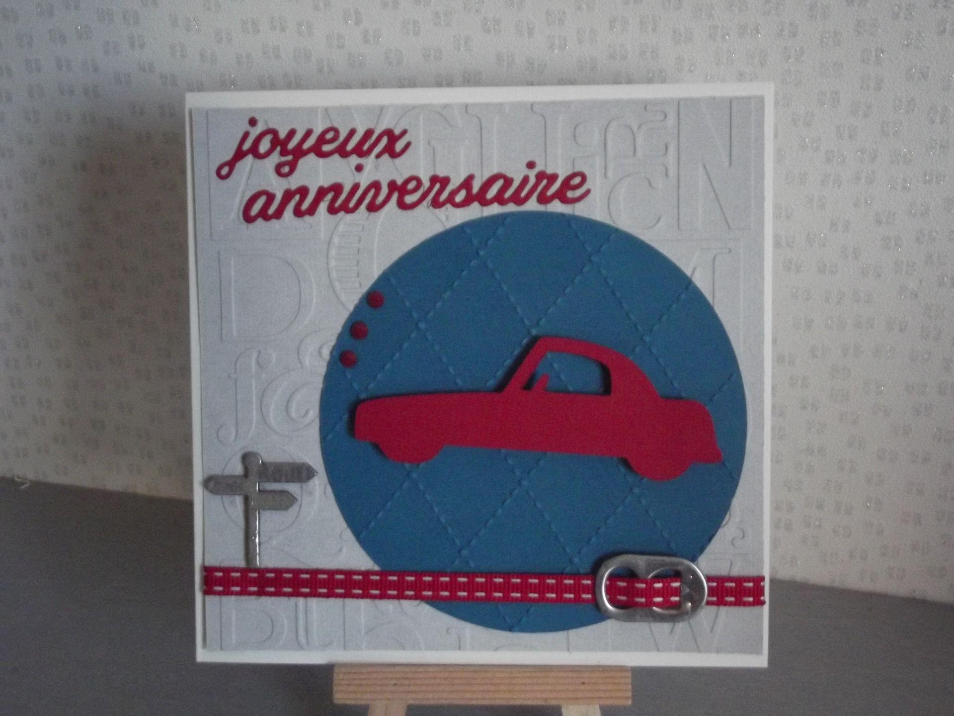 Carte joyeux anniversaire rallye
