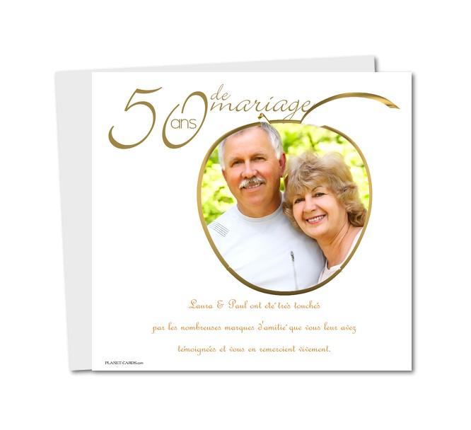 Texte remerciements anniversaire mariage