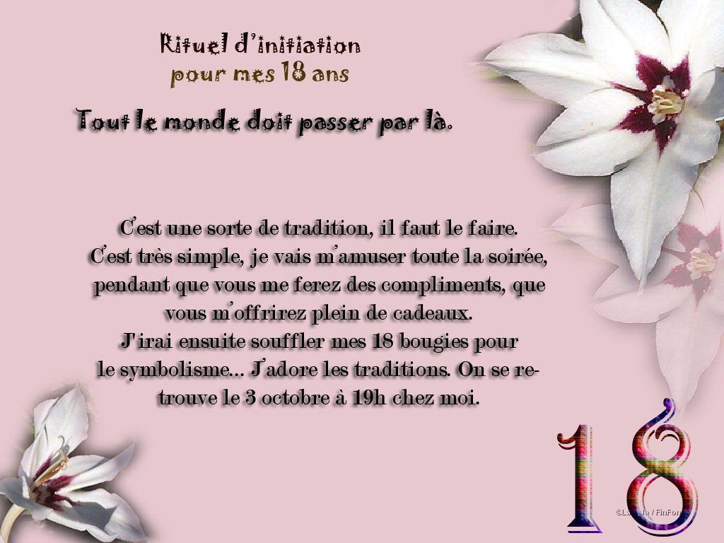 Modele texte invitation anniversaire 18 ans