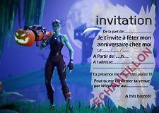 Carte d invitation anniversaire fortnite