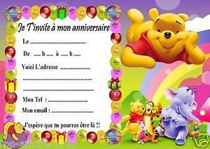 Winnie l'ourson carte anniversaire