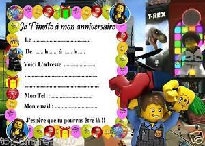 Carte invitation anniversaire lego city