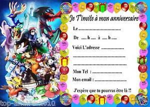 Carte anniversaire pokemon gratuit