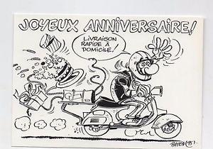 Carte anniversaire motards