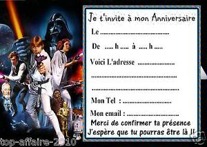 Carte d anniversaire star wars