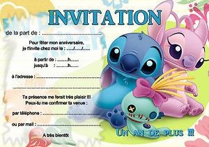Carte invitattion anniversaire