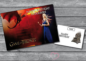 Carte anniversaire game of throne