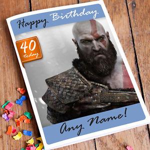Carte anniversaire jeux ps4