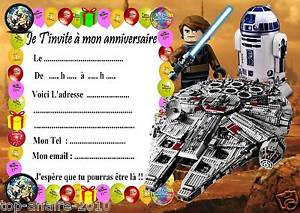 Carte invitation anniversaire lego