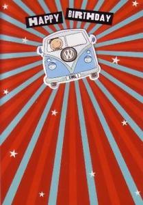 Carte anniversaire bus vw