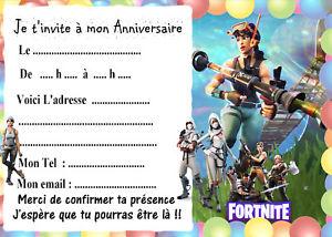 Carte inviatation anniversaire