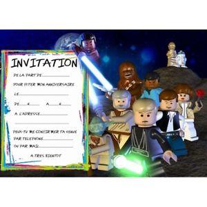 Carte invitation anniversaire enfant star wars