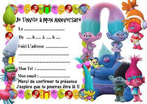Carte d anniversaire les trolls