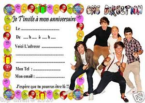 Carte anniversaire one direction