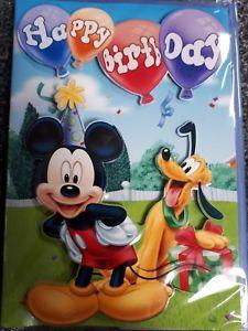 Carte joyeux anniversaire mickey