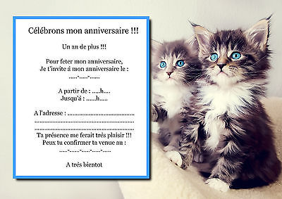 Carte anniversaire imprimer chat