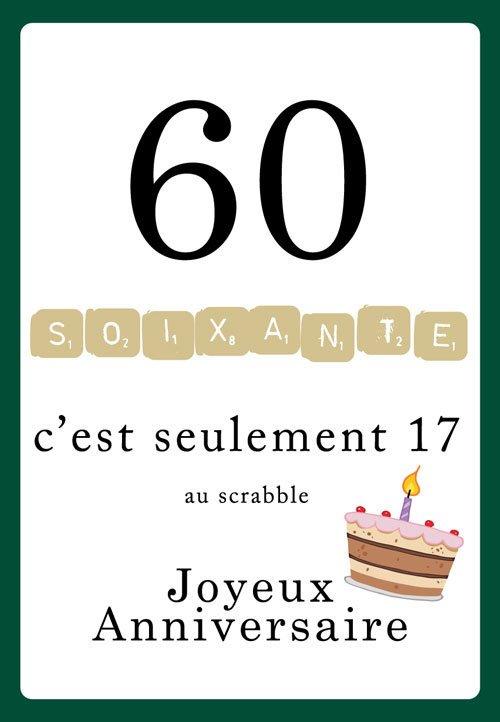 Idee carte anniversaire 60 ans