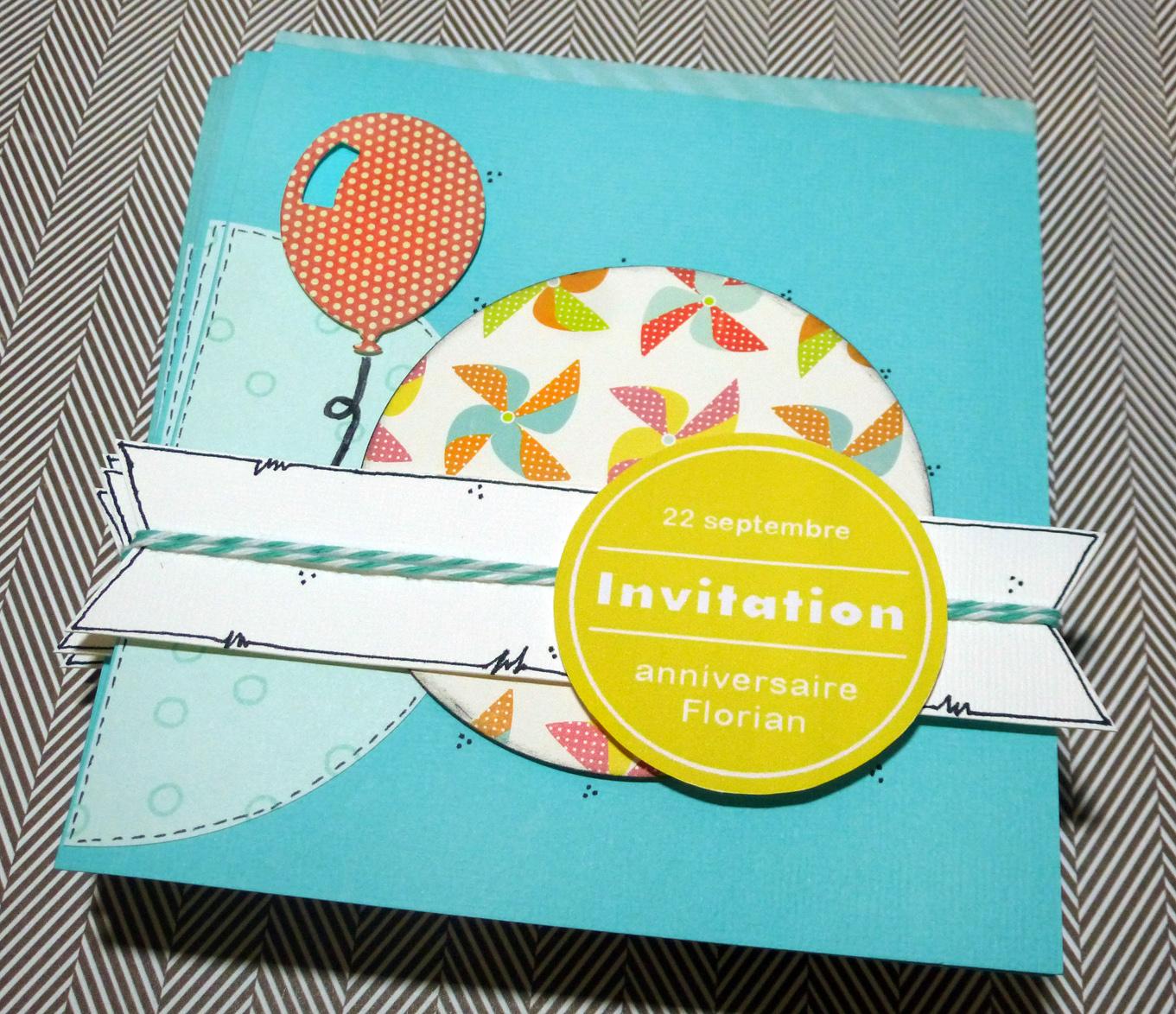 Création carte anniversaire scrapbooking