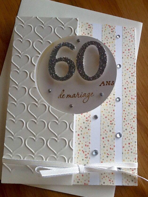 Faire une carte anniversaire 60 ans