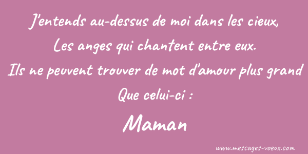 Message amour anniversaire maman