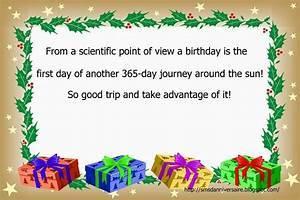 Message anniversaire en anglais