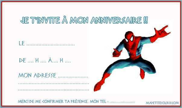 Carte anniversaire gratuite spiderman