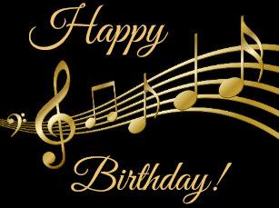 Carte anniversaire avec note de musique