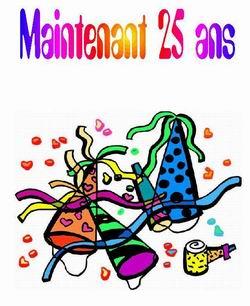 Carte anniversaire humoristique 25 ans