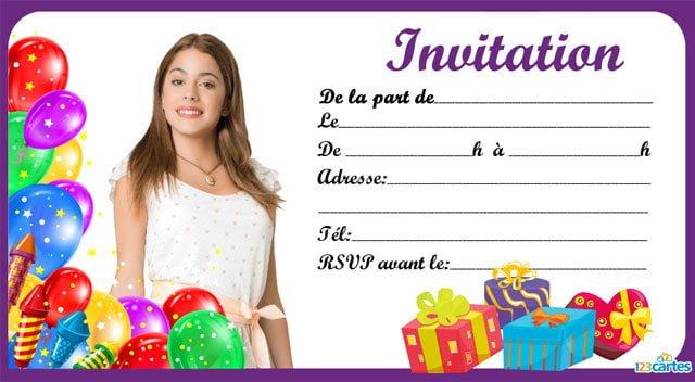 Carte joyeux anniversaire violetta gratuite