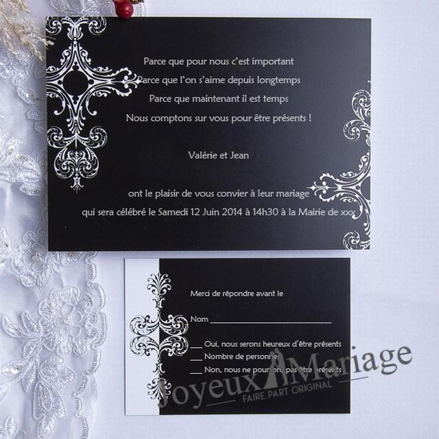 Texte invitation anniversaire theme noir et blanc