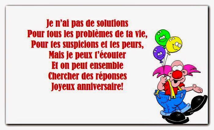 Message anniversaire original 20 ans