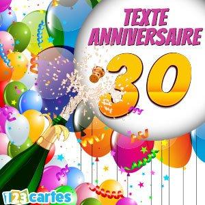Texte pour souhaiter un joyeux anniversaire 30 ans