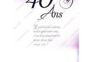 Citation Anniversaire 40 Ans Femme.Texte Anniversaire 40 Ans Ami Elevagequalitetouraine
