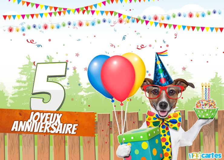 Texte anniversaire garçon 5 ans