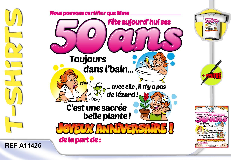 Texte humour anniversaire 50 ans femme