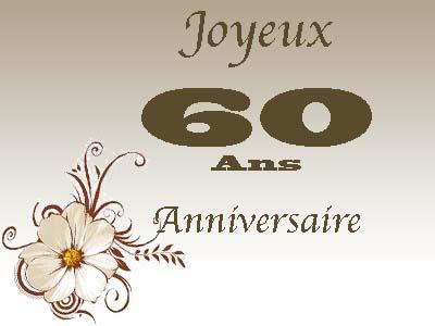 Texte anniversaire 60 ans amie