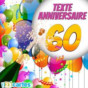 Modèle message anniversaire 60 ans