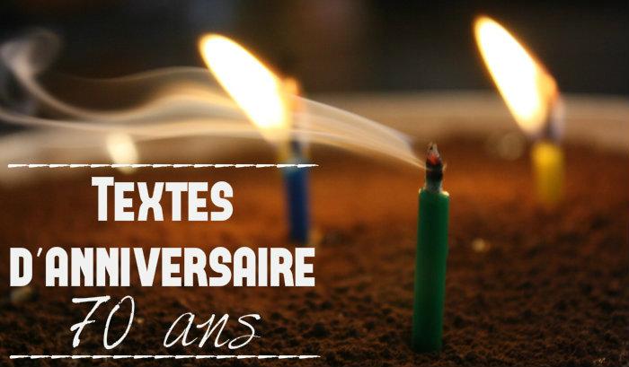 Texte court anniversaire 70 ans