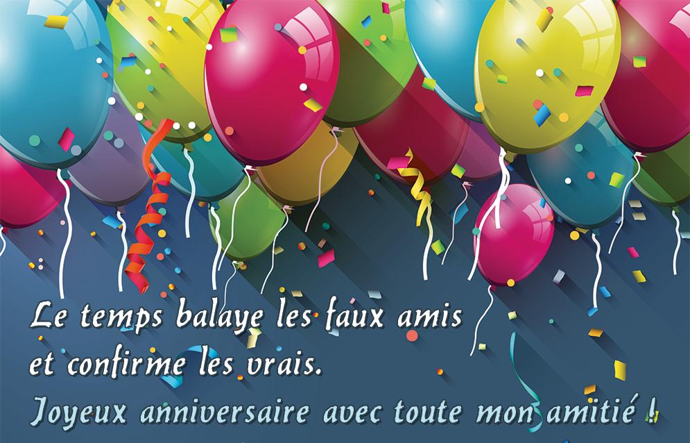 Carte joyeux anniversaire avec texte