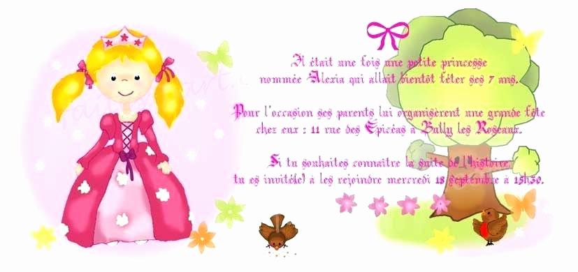 Texte invitation anniversaire fille 6 ans
