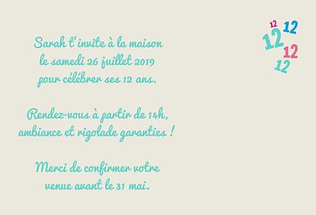 Carte Anniversaire 12 Ans Texte Elevagequalitetouraine