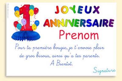 Message carte invitation anniversaire