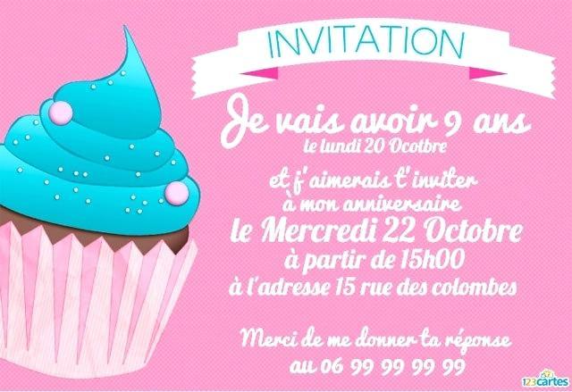 Texte invitation enfant anniversaire