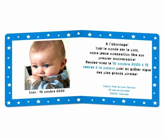 Invitation Anniversaire 1 An Garcon Texte Elevagequalitetouraine