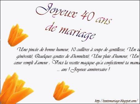 Texte de anniversaire de mariage